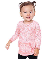 Infants Static Jersey Print Cntrst Raw Edge Long Sleeve With Pouch at GotApparel