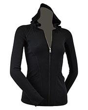 Junior Raglan Long Sleeve Zip Hoodie W. Front Pocket at GotApparel