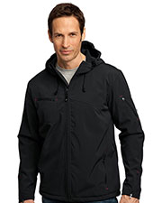 Port Authority J706 Men Textured Hooded Soft Shell Jacket at GotApparel