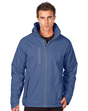 Tri-Mountain J8970 Men Heavyweight Polyester/Fleece Hooded Parka at GotApparel