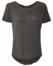 J America JA8127 Women Oasis Drop Tail T-Shirt at GotApparel