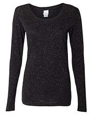J America JA8236 Women Glitter Long-Sleeve T-Shirt at GotApparel
