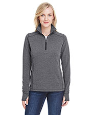 J America JA8433 Women Omega Stretch Quarter-Zip at GotApparel