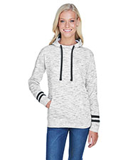 J America JA8674 Women Melange Scuba Neck Sweatshirt at GotApparel