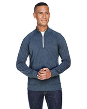 J America JA8869 Men Triblend Fleece Quarter-Zip at GotApparel