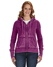 J America JA8913 Women Zen Full-Zip Fleece Hood at GotApparel
