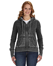 J America JA8913 Women Zen Full-Zip Fleece Hood at GotApparel