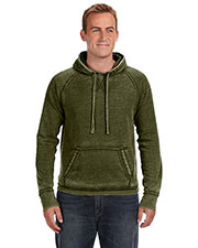 JA8915 Men Vintage Zen Fleece Pullover Hood at GotApparel