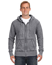J America JA8916 Men Vintage Zen Full-Zip Fleece Hood at GotApparel