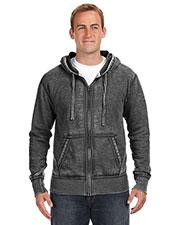 J America JA8916 Men Vintage Zen Full-Zip Fleece Hood at GotApparel