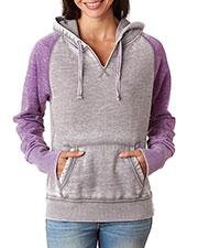 J America J8926 Women Zen Contrast Hooded Fleece at GotApparel