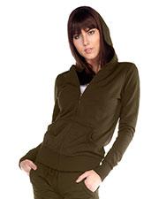 Junior Raw Edge Long Sleeve Zip Hoodie Jacket (Regular Length) at GotApparel