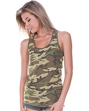 Junior Camouflage Racer Back Tank at GotApparel