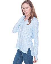 Juniors Static Print Raglan High Low Long Sleeve Thumbhole Hoodie at GotApparel