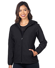Tri-Mountain JL6355 Women Bonded Soft Shell Hooded Jacket at GotApparel