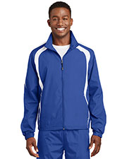 Sport-Tek JST60 Men Colorblock Raglan Jacket at GotApparel
