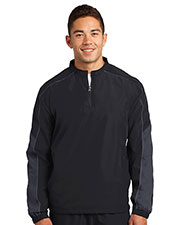 Sport-Tek JST64 Men Piped Colorblock 1/4-Zip Wind Shirt at GotApparel