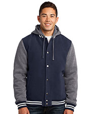 Sport-Tek JST82 Men Insulated Letterman Jacket at GotApparel