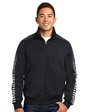 Sport-Tek JST93 Men Dot Sublimation Tricot Track Jacket at GotApparel