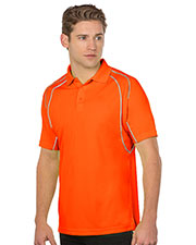 Tri-Mountain K037 Men Safety Polo with Reflective Piping at GotApparel