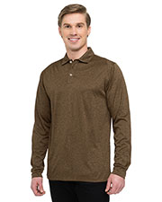 Tri-Mountain K209LS Men 5 oz. 100% polyester heather jersey long sleeve polo with UltraCool® moisture-wicking tech. at GotApparel