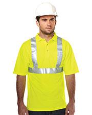 Tri-Mountain K222G Men Boundary Birdeye 3-Button Polo Shirt at GotApparel