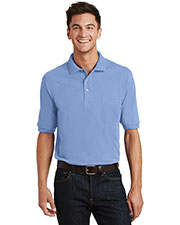 Port Authority K420P Men Pique Knit Polo With Pocket at GotApparel