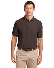 Port Authority K500P Men Silk Touch Polo With Pocket at GotApparel