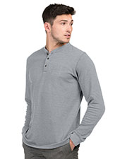 Tri-Mountain K516 Men Mini Stripe L/S Shirt at GotApparel