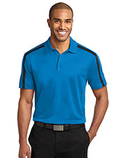 Port Authority K547 Men Silk Touch Performance Colorblock Stripe Polo at GotApparel