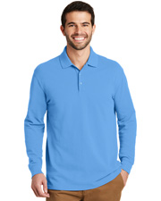 Port Authority K8000LS Men EZCotton Long Sleeve Polo at GotApparel