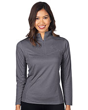 Tri-Mountain KL521 Women Heather 1/4-Zip Performance Pullover at GotApparel