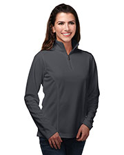 TM Performance KL628 Women's Cleton Knit 1/4-Zip Pullover at GotApparel