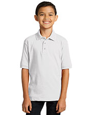 Port & Company KP55Y Boys 5.5 Ounce Jersey Knit Polo at GotApparel