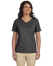 LAT L-3587 Ladies 5.5 oz Premium Jersey V-Neck T-Shirt at GotApparel