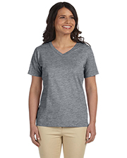 LAT L-3587 Ladies 5.5 oz Premium Jersey V-Neck T-Shirt at GotApparel