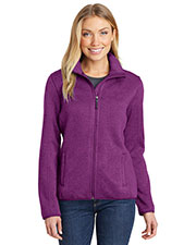 Port Authority L232 Women Sweater Fleece Jacket at GotApparel