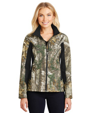 Port Authority L318C Women Camouflage Colorblock Soft Shell Jacket at GotApparel