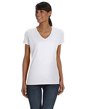 Fruit Of The Loom L39VR Women 5 Oz. 100% Heavy Cotton HD V-Neck T-Shirt at GotApparel