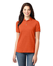 Port Authority L420 Women Pique Knit Polo at GotApparel