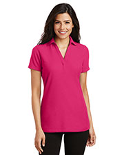 Port Authority L5001 Women Silk Touch Y-Neck Polo at GotApparel