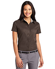 Port Authority L508 Women Short-Sleeve Easy Care Shirt at GotApparel