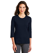 Port Authority L517 Women Cotton 3/4-Sleeve Scoop Neck Shirt at GotApparel