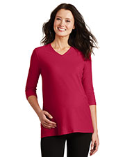 Port Authority L561M Women Silk Touch Maternity 3/4-Sleeve V-Neck Shirt at GotApparel