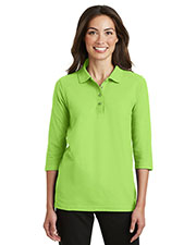 Port Authority L562 Women Silk Touch 3/4-Sleeve Polo at GotApparel