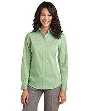Port Authority L647 Women Fine Stripe Stretch Poplin Shirt at GotApparel
