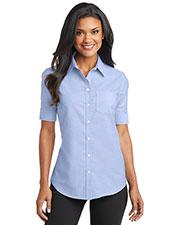 Port Authority L659 Women Short-Sleeve Superpro Oxford Shirt at GotApparel