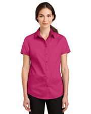 Port Authority L664 Women Short-Sleeve Superpro Twill Shirt at GotApparel