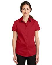 Port Authority L664 Women Short-Sleeve Superpro Twill Shirt at GotApparel