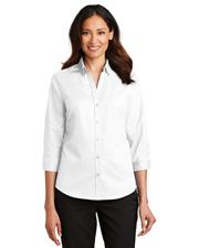Port Authority L665 Women 3/4-Sleeve Superpro Twill Shirt at GotApparel